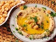 Хумус от нахут, сусамов тахан, лимон и зехтин
